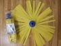 Esfregonas sinteticas de bandas Amarelas da marca Cisne