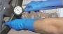 Luvas em Nitrilo Azul Industrial